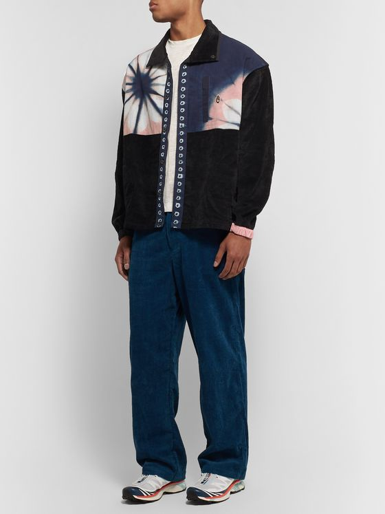 Story Mfg. Sabai Panelled Tie-Dyed Organic Cotton and Corduroy Jacket