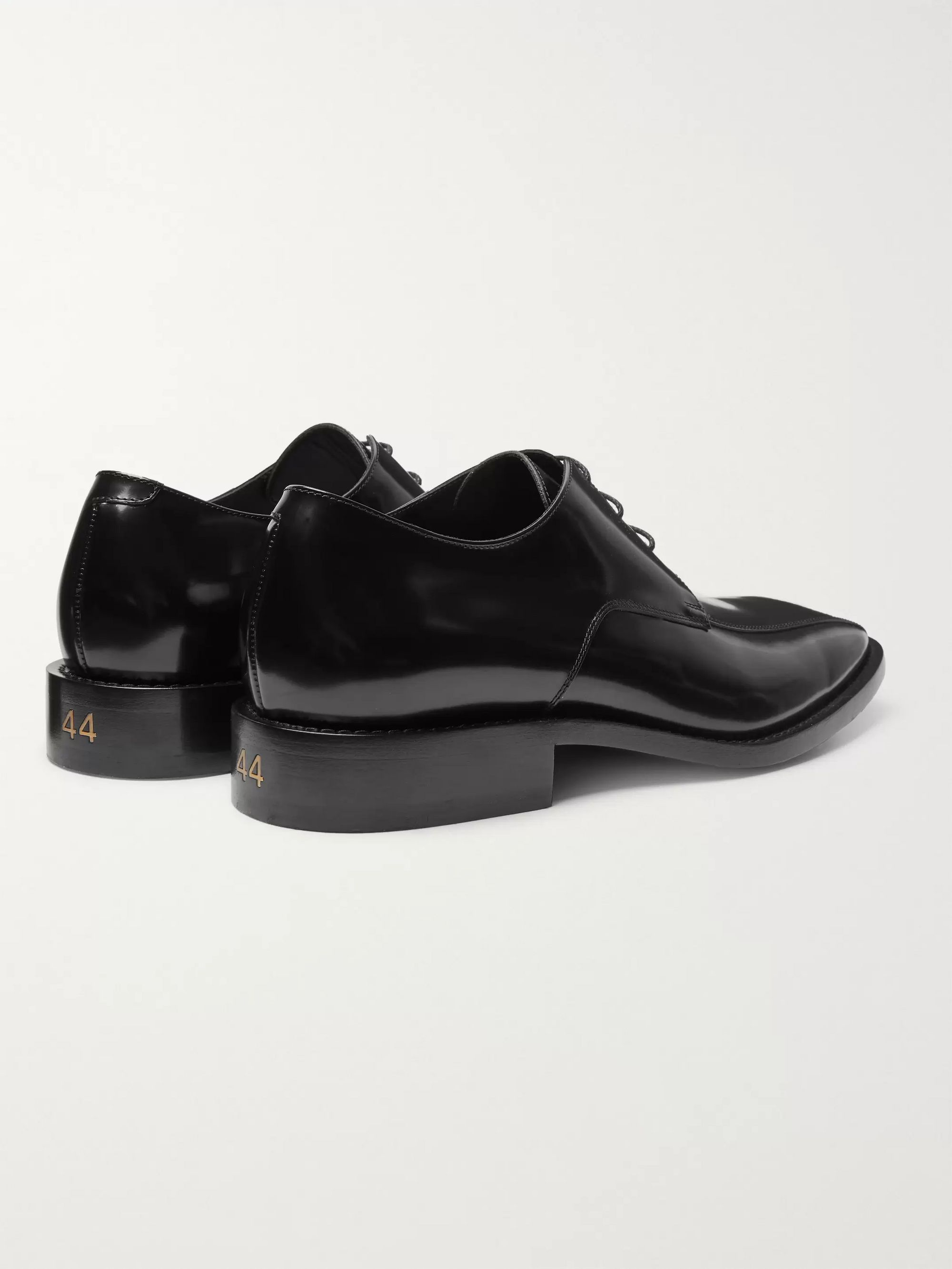 Balenciaga Polished-Leather Derby Shoes