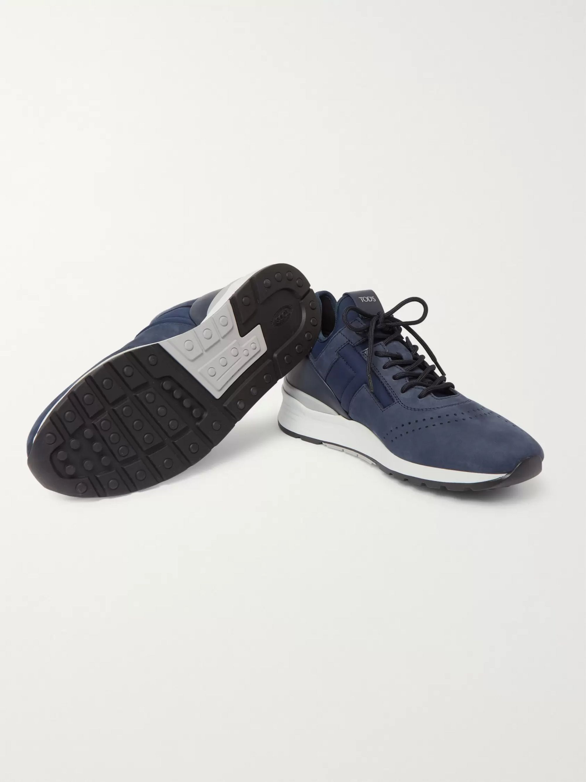 Tod's Sportivo Suede and Neoprene Sneakers