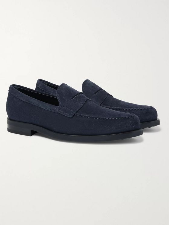 Tod's Suede Penny Loafers