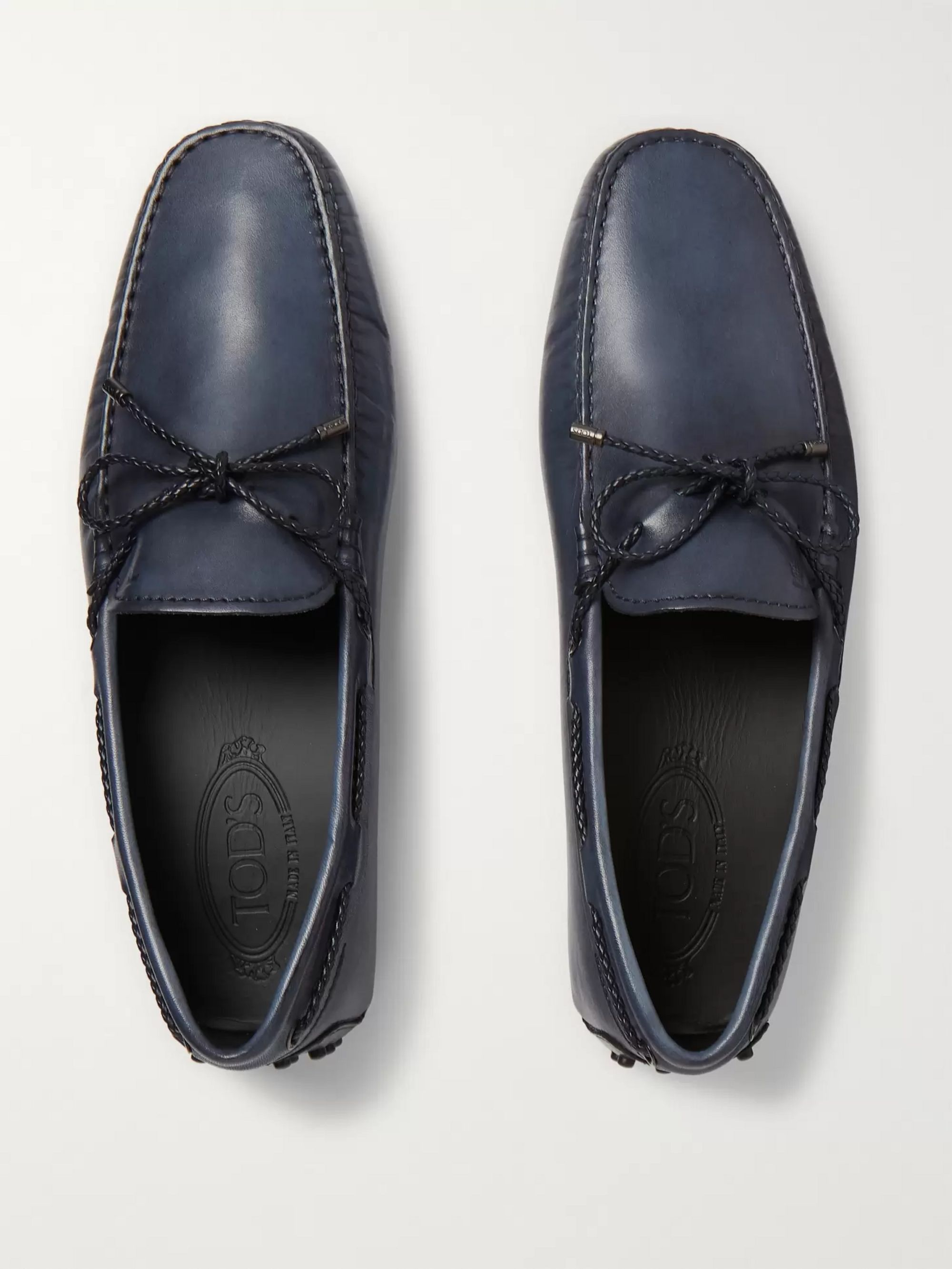 Tod's Burnished-Leather Driving Shoes