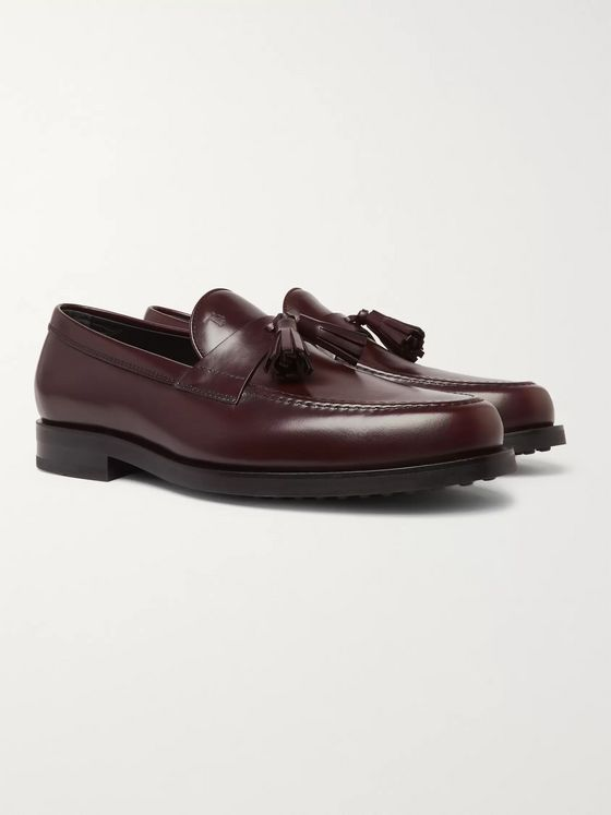 Tod's Polished-Leather Tasselled Loafers