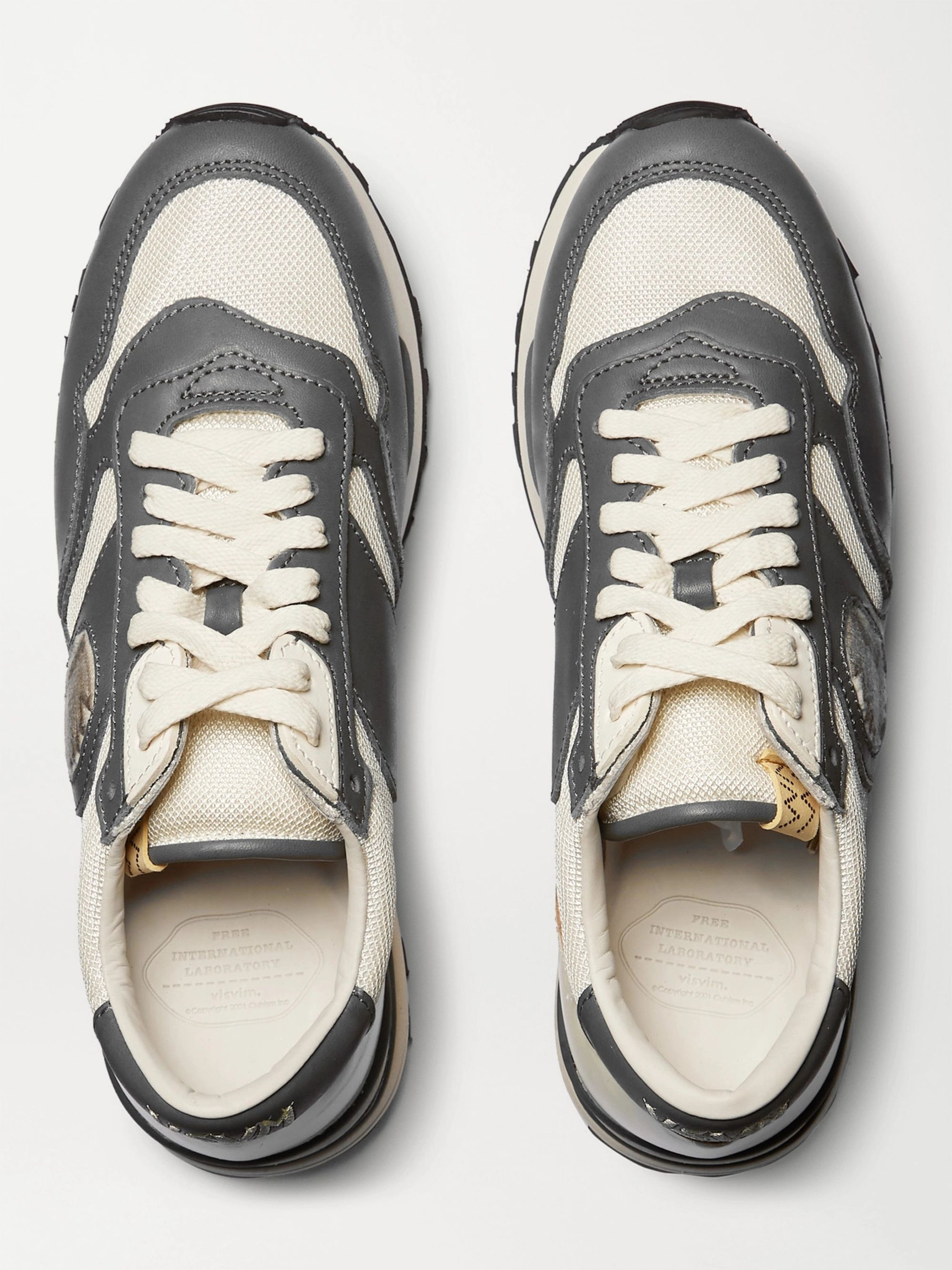 visvim Roland Leather and Mesh Sneakers