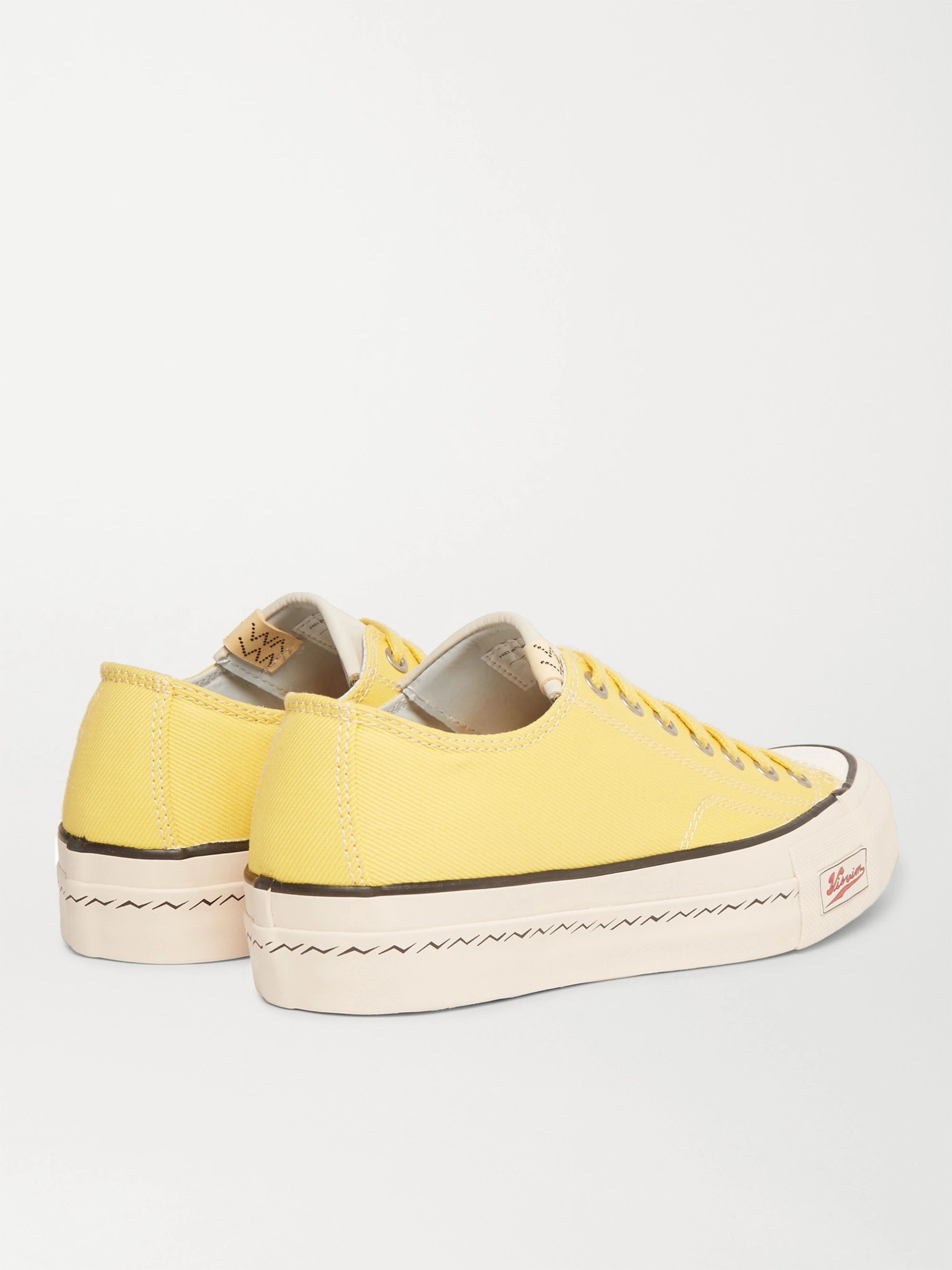 visvim Skagway Leather-Trimmed Canvas Sneakers