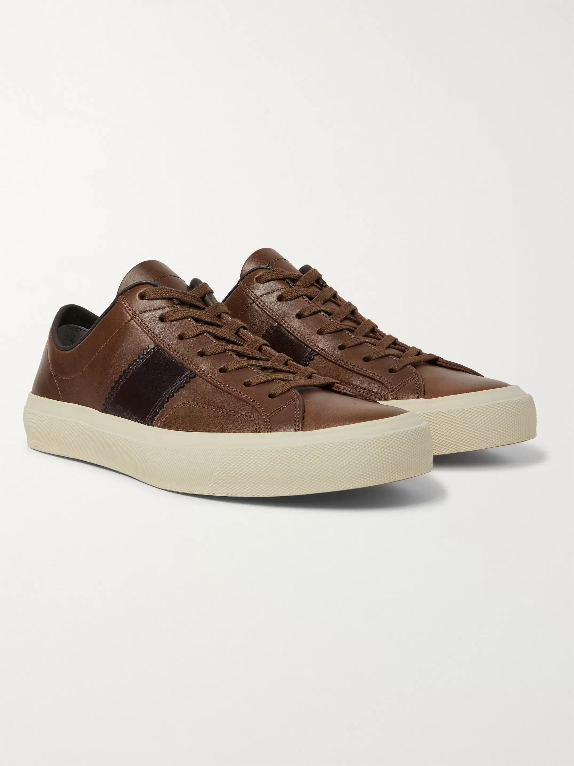 TOM FORD Cambridge Leather Sneakers