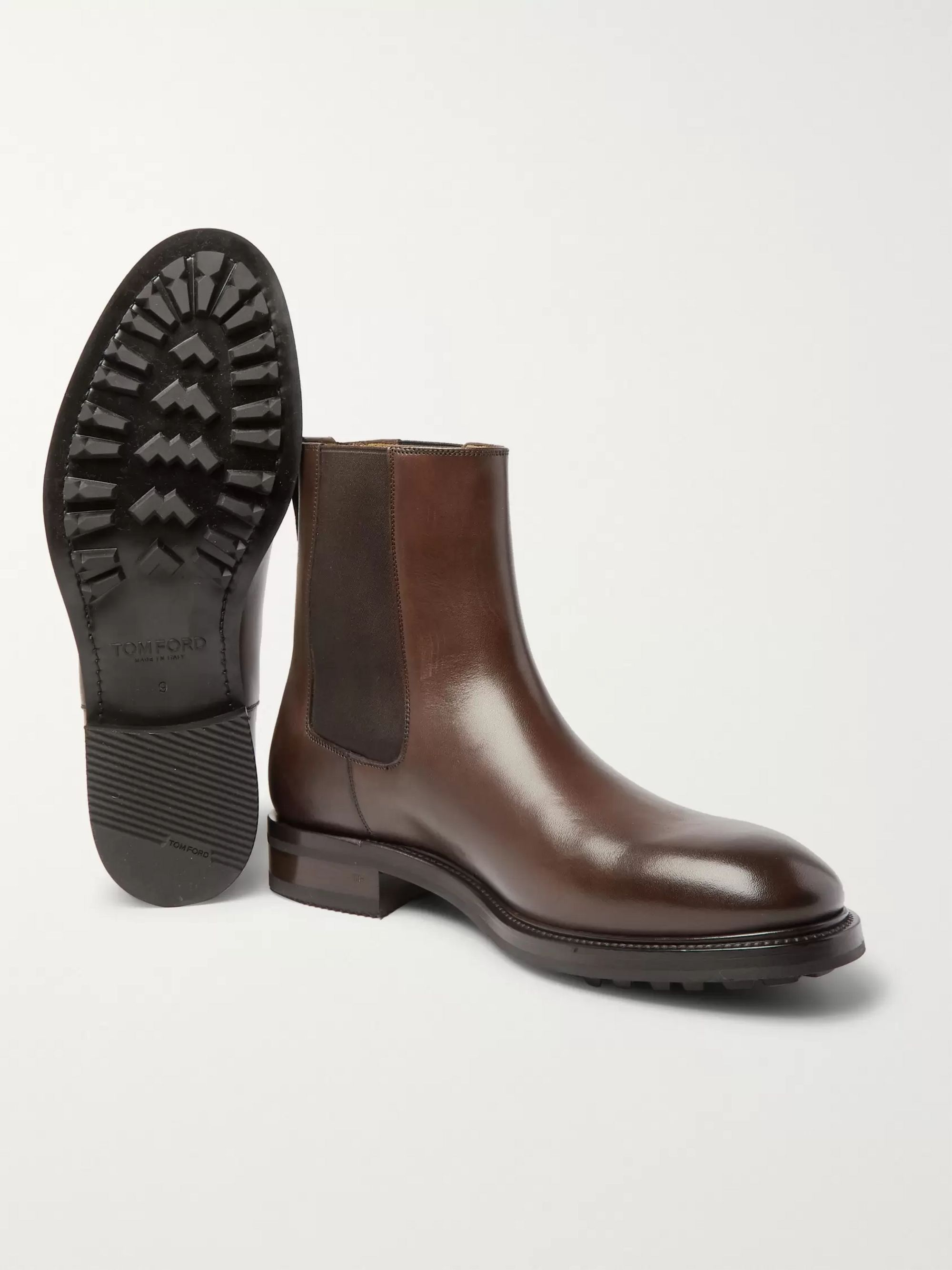 TOM FORD Stuart Polished-Leather Chelsea Boots