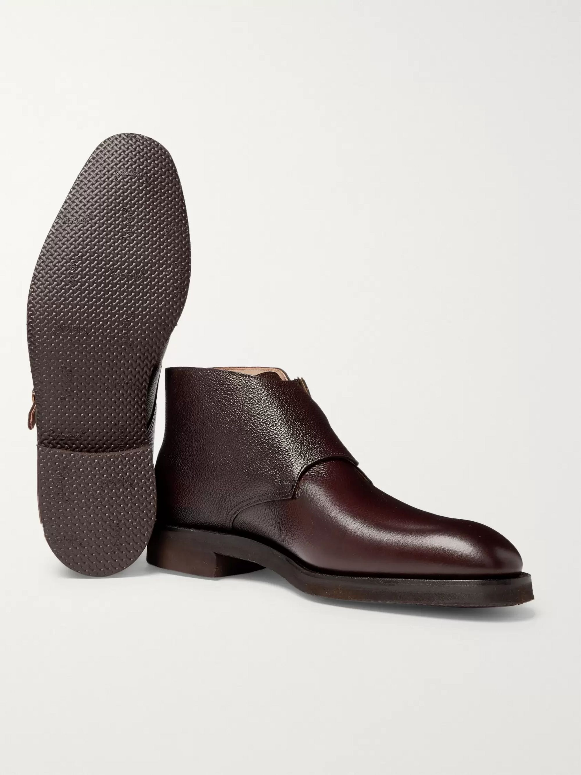 George Cleverley Fry Suede Monk-Strap Boots