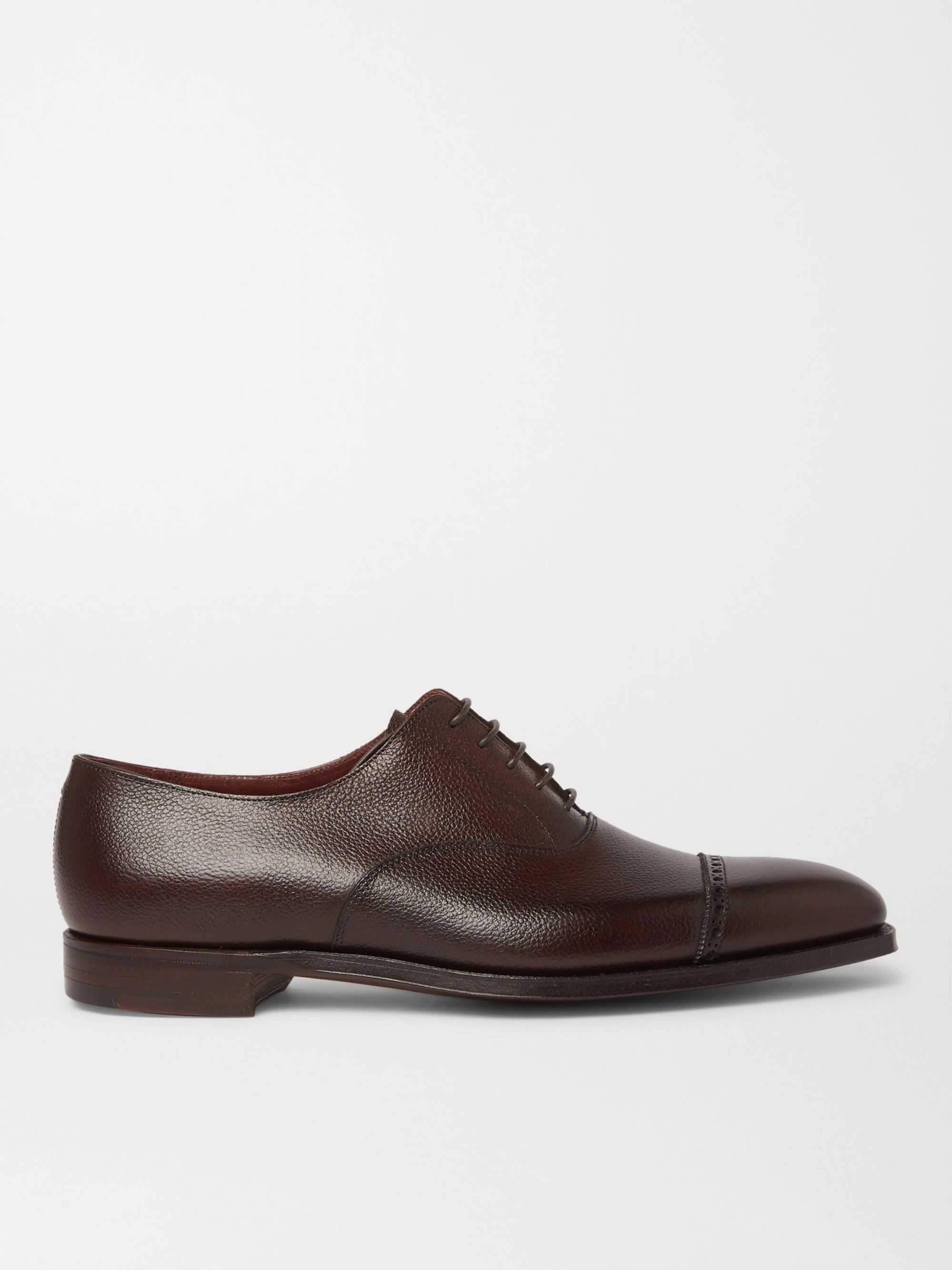 George Cleverley Charles Cap-Toe Full-Grain Leather Oxford Shoes