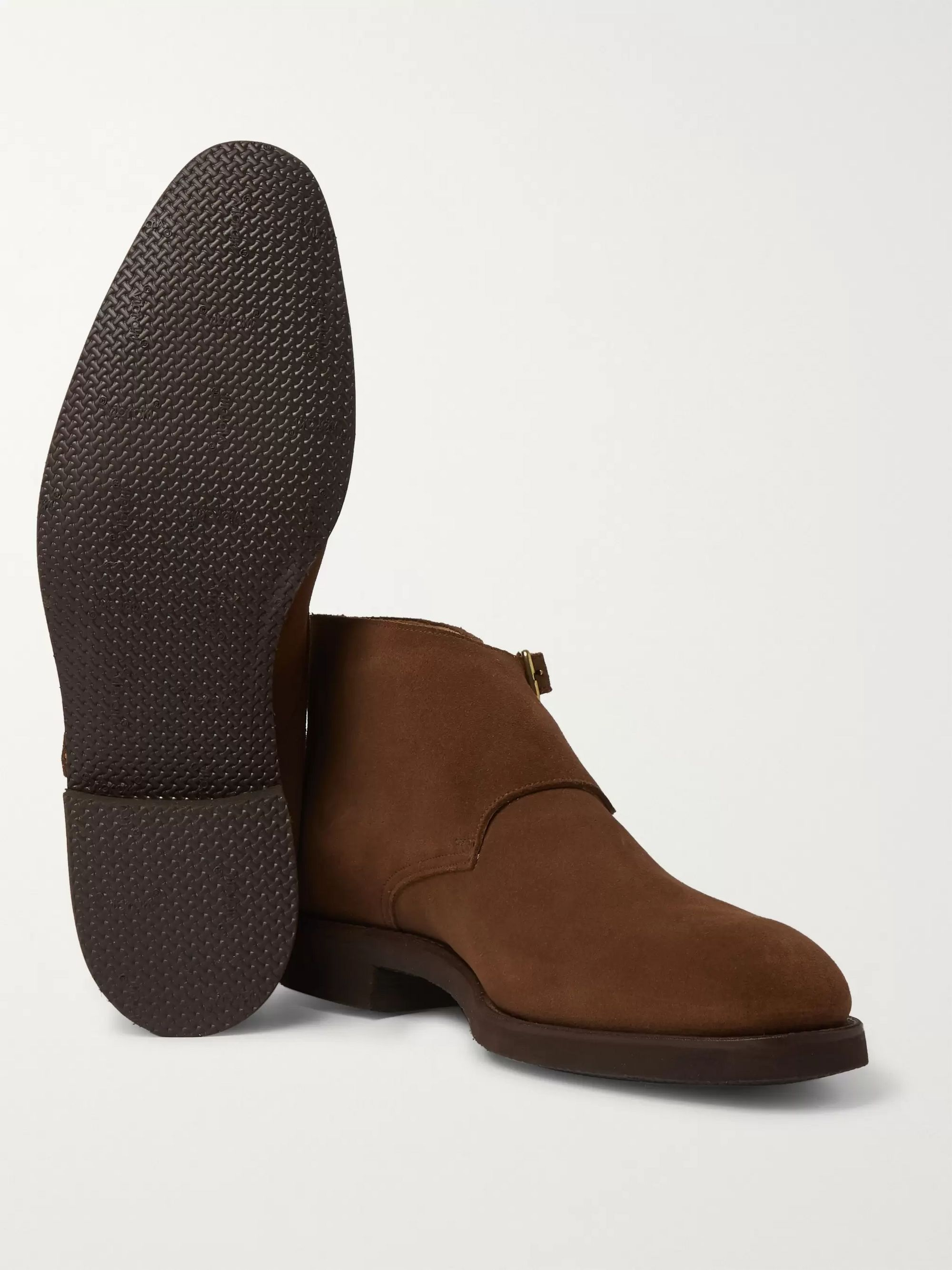 George Cleverley Fry Full-Grain Leather Monk-Strap Boots