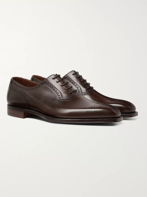 George Cleverley Anthony Pebble-Grain Leather Oxford Brogues