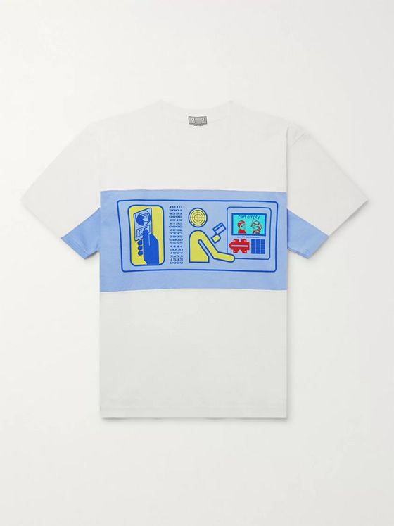 Cav Empt Printed Panelled Cotton-Jersey T-Shirt