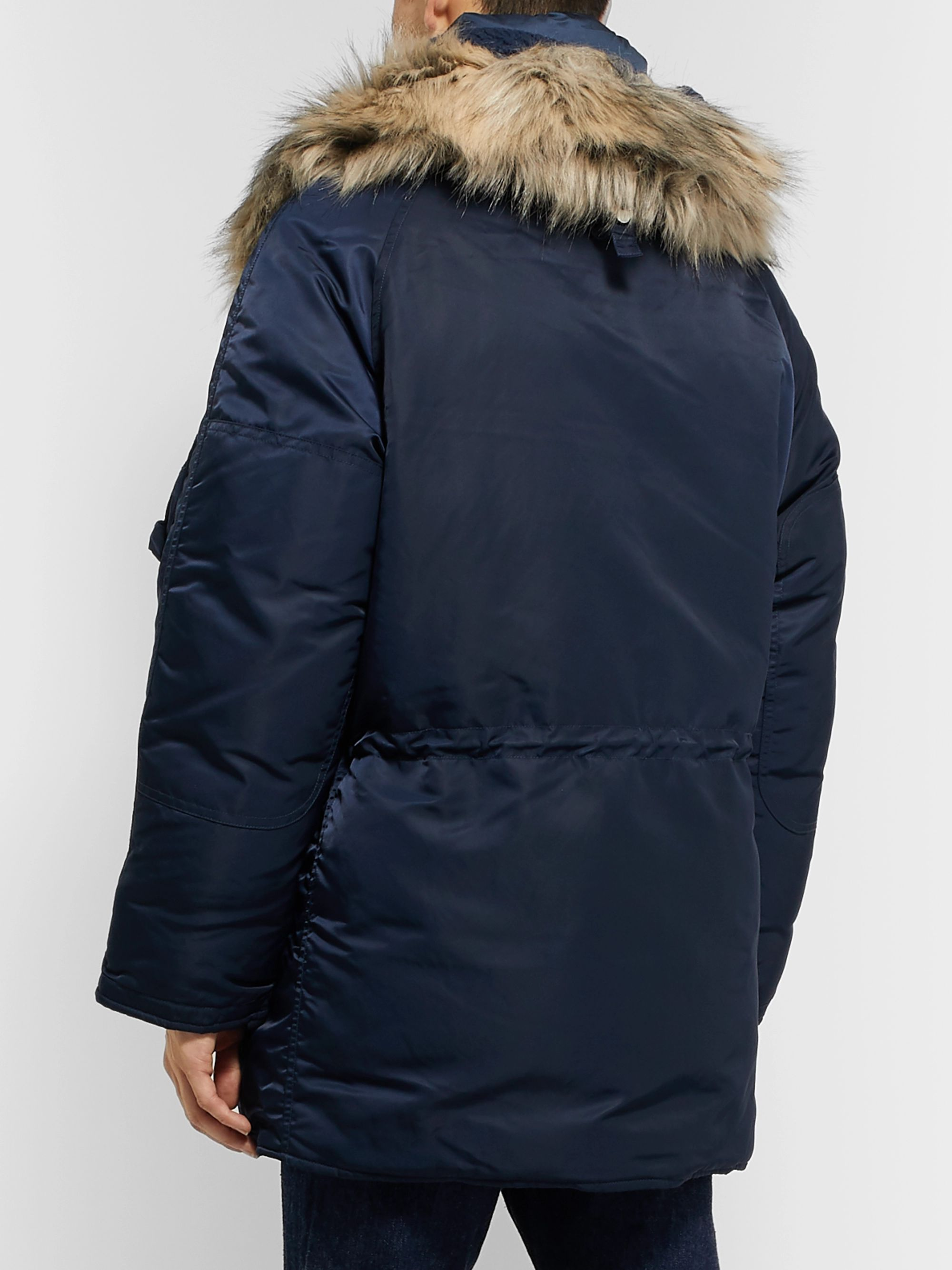 nanamica Harbor Oversized Faux Fur-Trimmed Padded Nylon Hooded Down Jacket