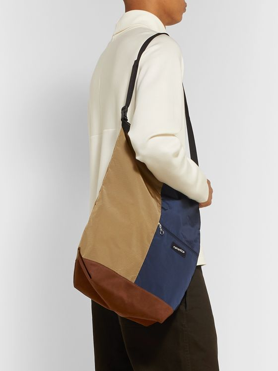 nanamica Panelled Nylon-Ripstop and Faux Suede Tote Bag