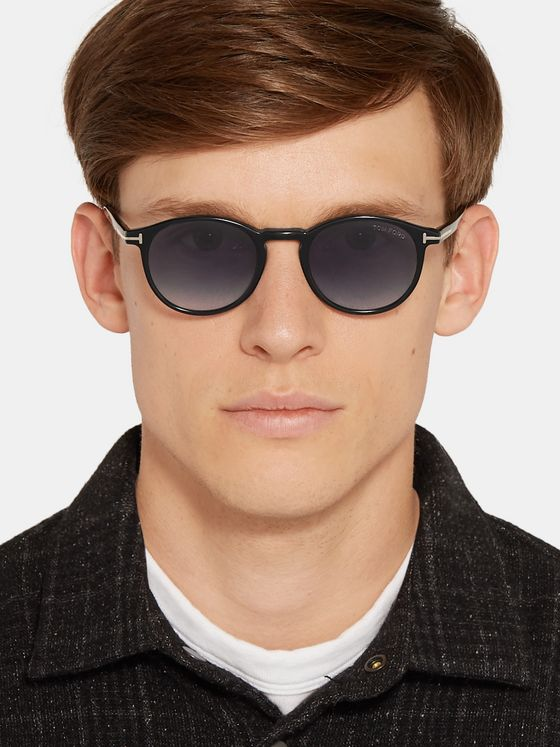 TOM FORD Andrea-02 Round-Frame Acetate Sunglasses