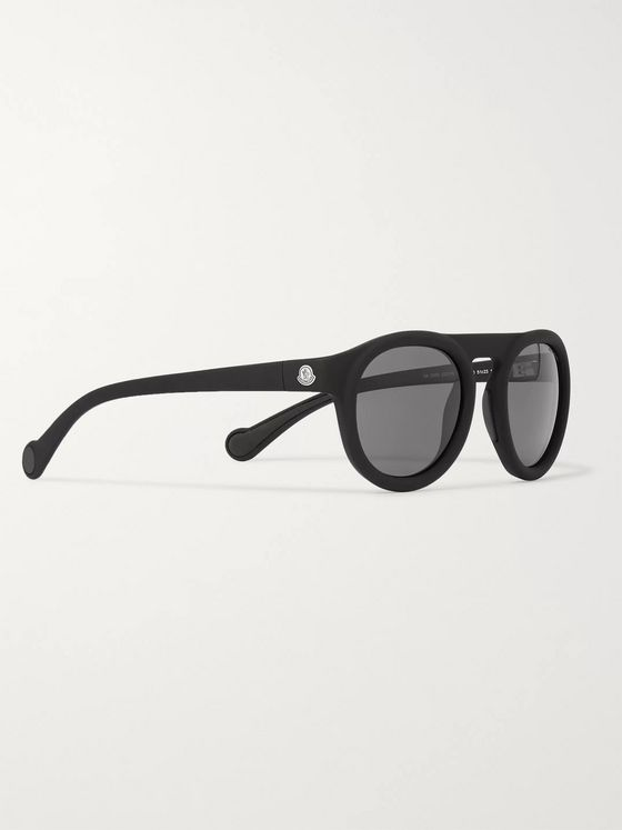 Moncler Round-Frame Acetate Polarised Sunglasses