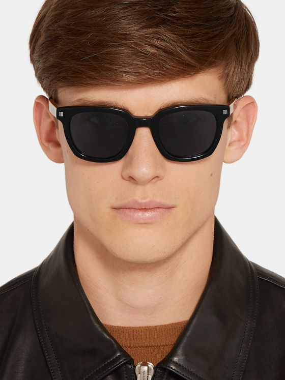 Ermenegildo Zegna Square-Frame Acetate Polarised Sunglasses