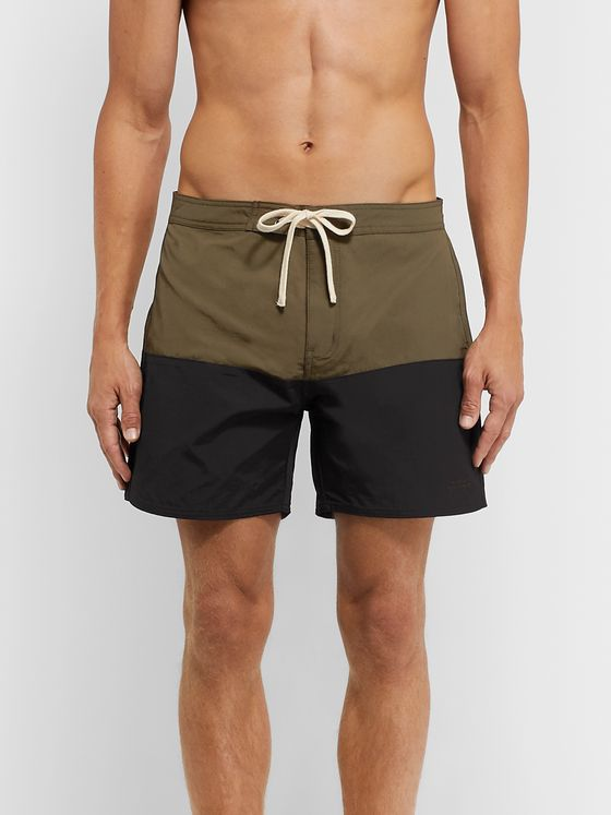 Saturdays NYC Ennis Mid-Length Colour-Block Swim Shorts