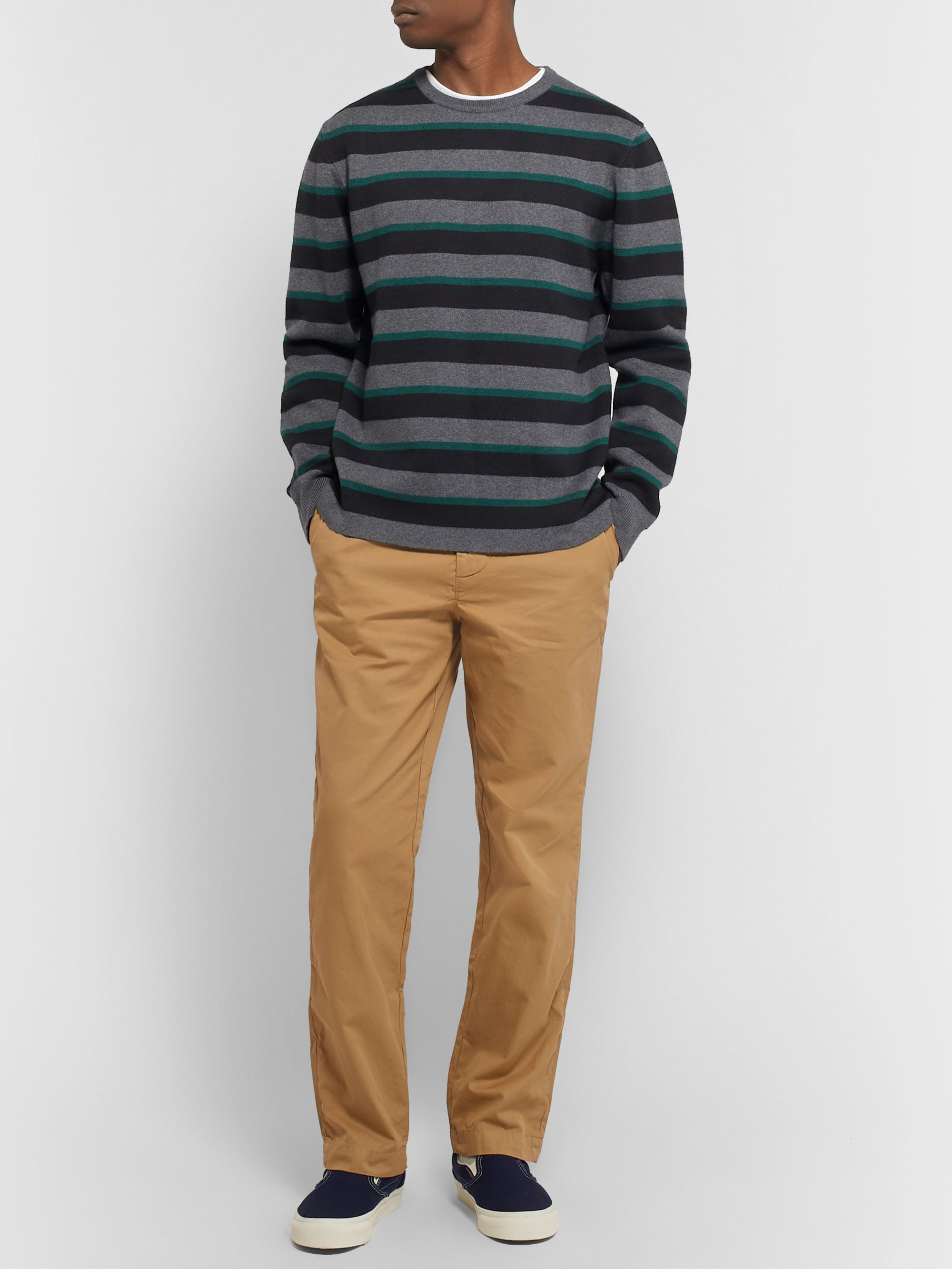 Saturdays NYC Lee Striped Cotton and Cashmere-Blend Sweater