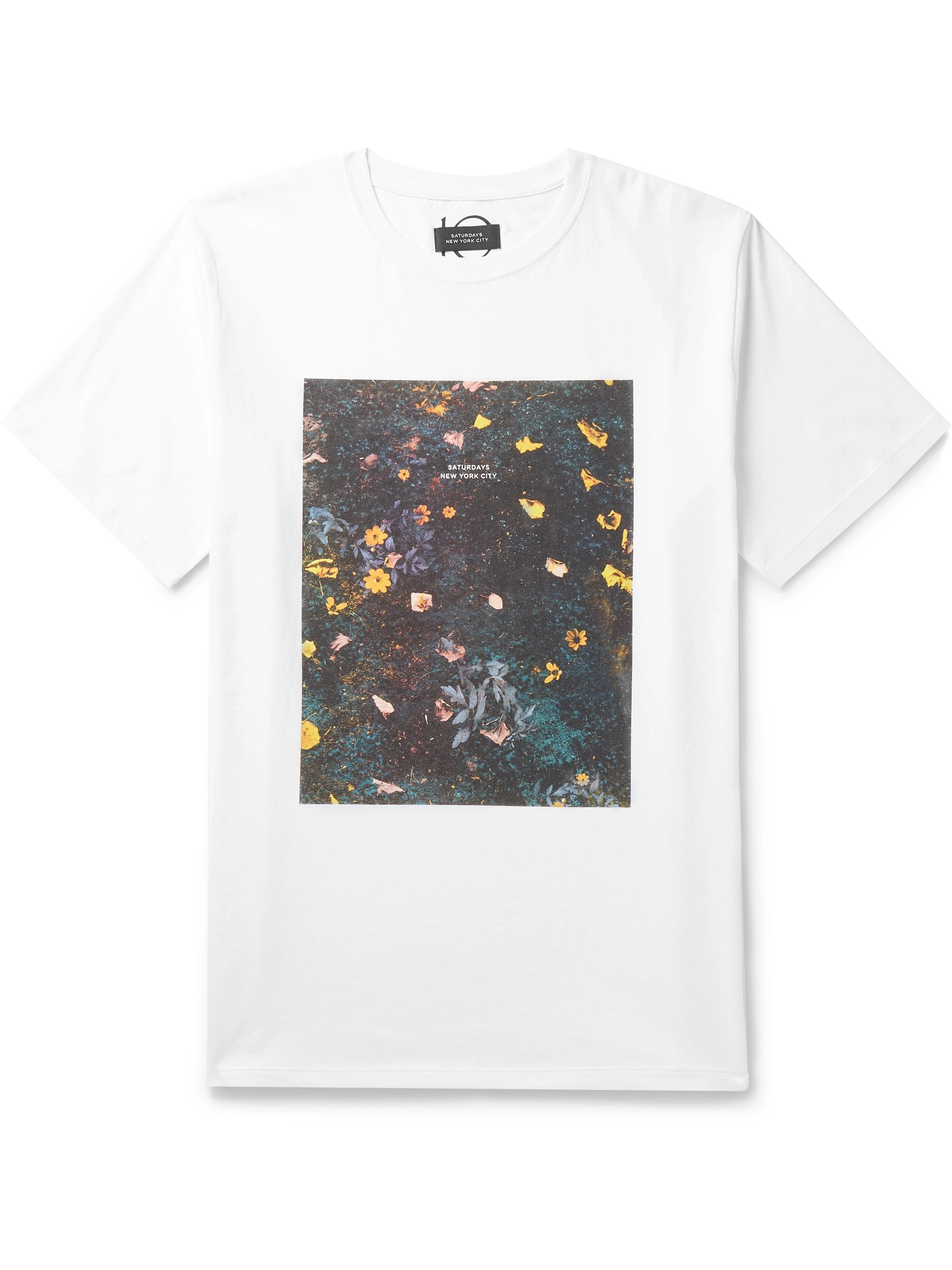 Saturdays NYC Transition Printed Cotton-Jersey T-Shirt