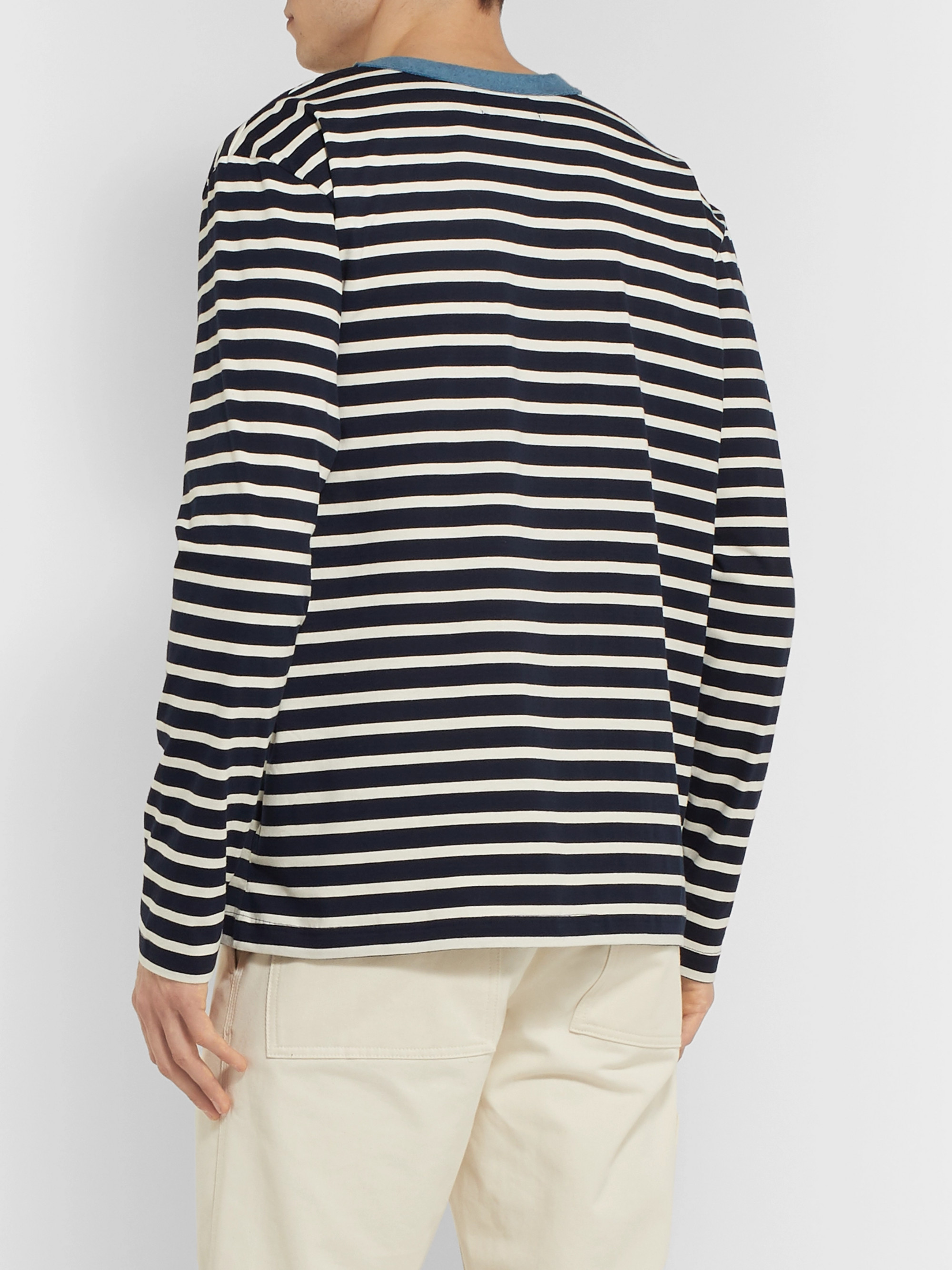 Howlin' Contrast-Trimmed Striped Cotton-Jersey Sweatshirt