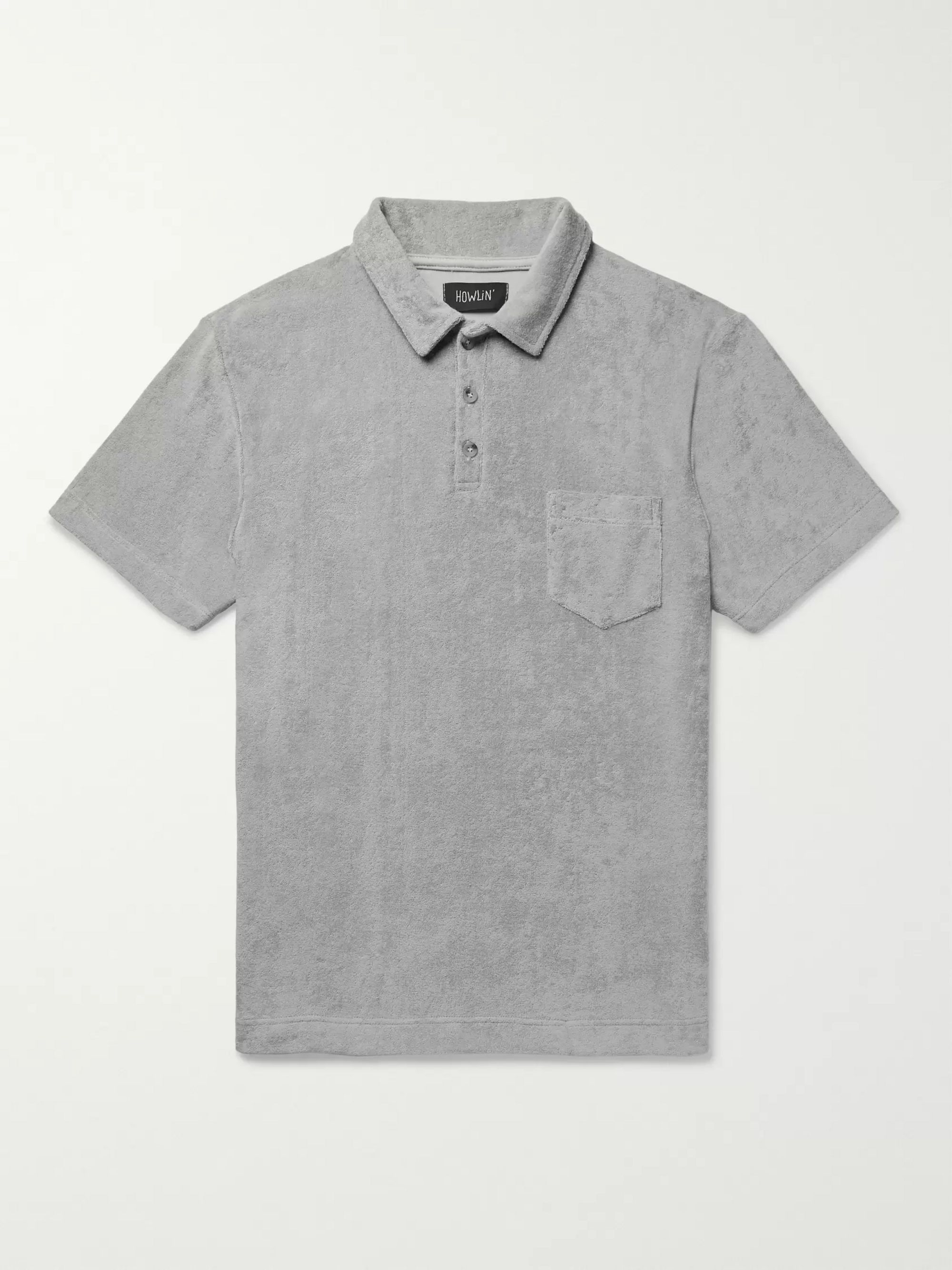 Howlin' Mr Fantasy Cotton-Blend Terry Polo Shirt