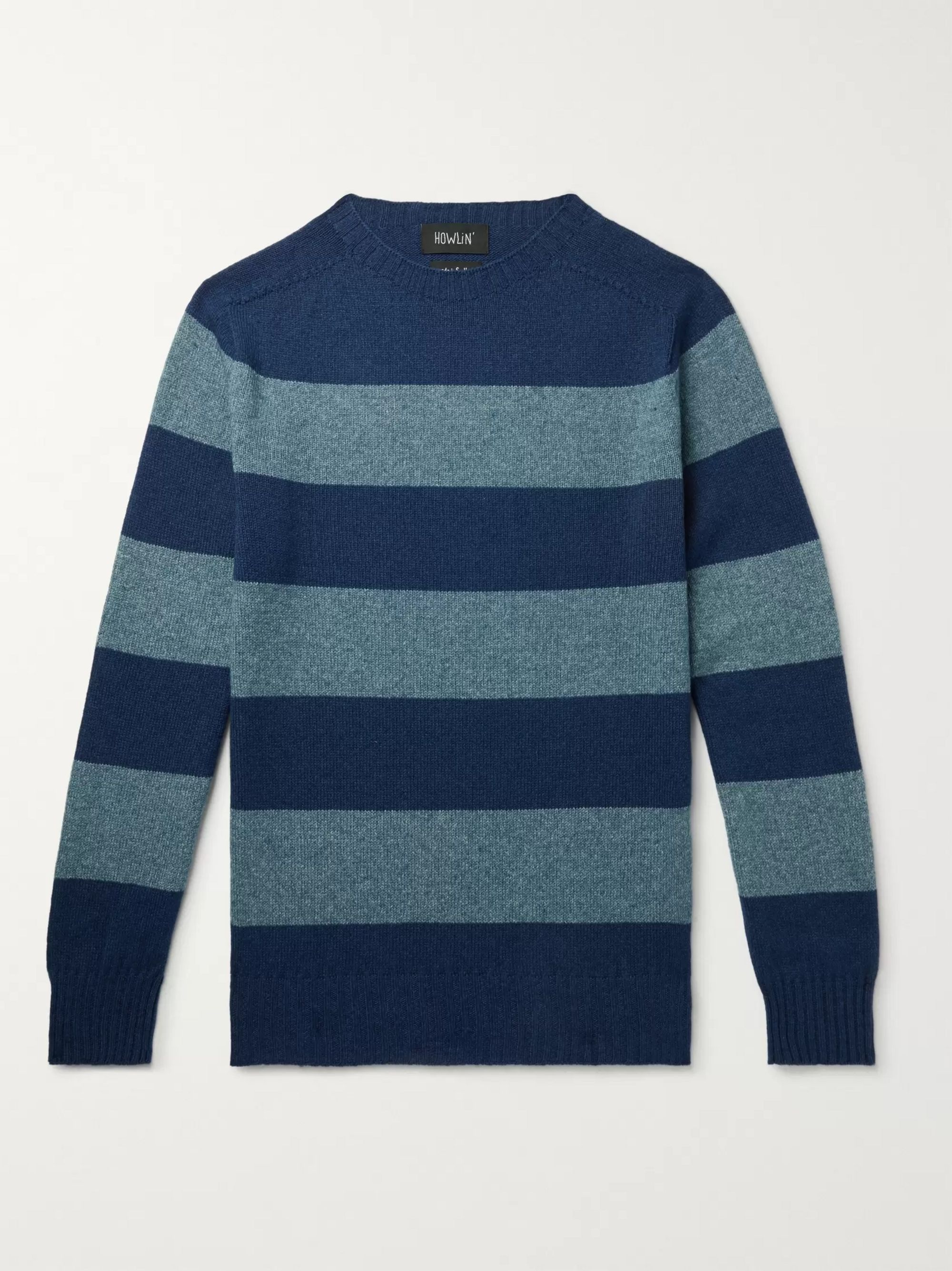 Howlin' Striped Wool and Cotton-Blend Sweater