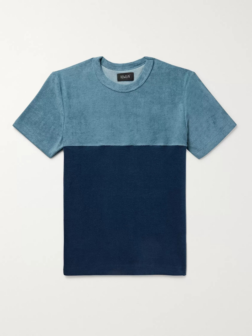 Howlin' Colour-Block Cotton-Blend Terry T-Shirt
