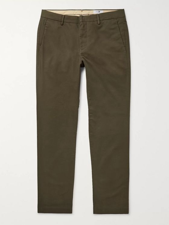 NN07 Theo Tapered Cotton-Blend Twill Chinos