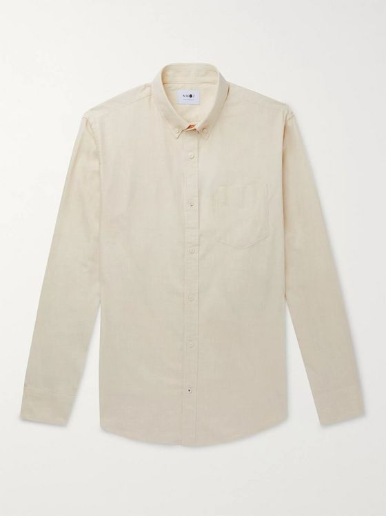 NN07 Levon Button-Down Collar Brushed Cotton-Flannel Shirt
