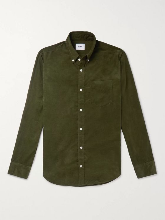 NN07 Levon Cotton-Corduroy Shirt