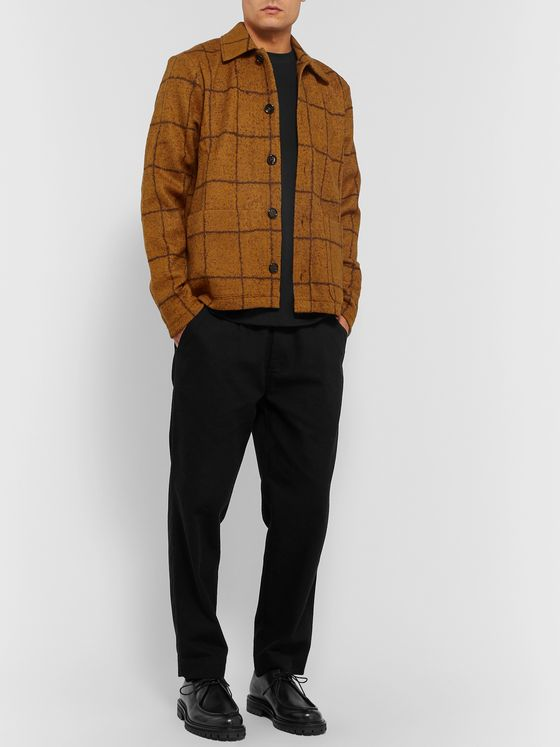 Séfr Nico Checked Virgin Wool-Blend Overshirt