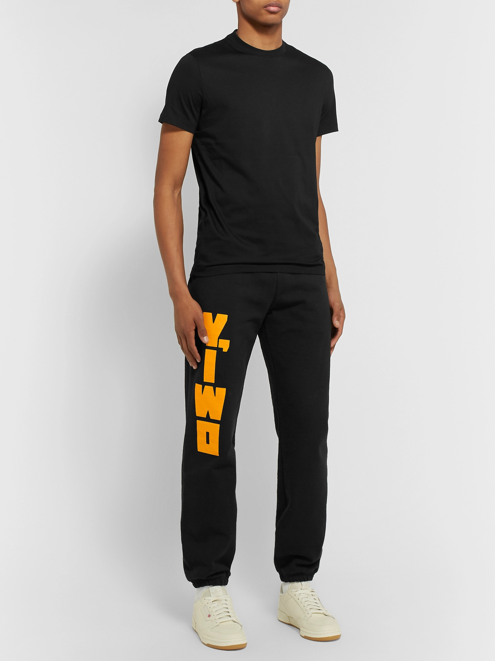 Y,IWO Logo-Print Fleece-Back Cotton-Jersey Sweatpants