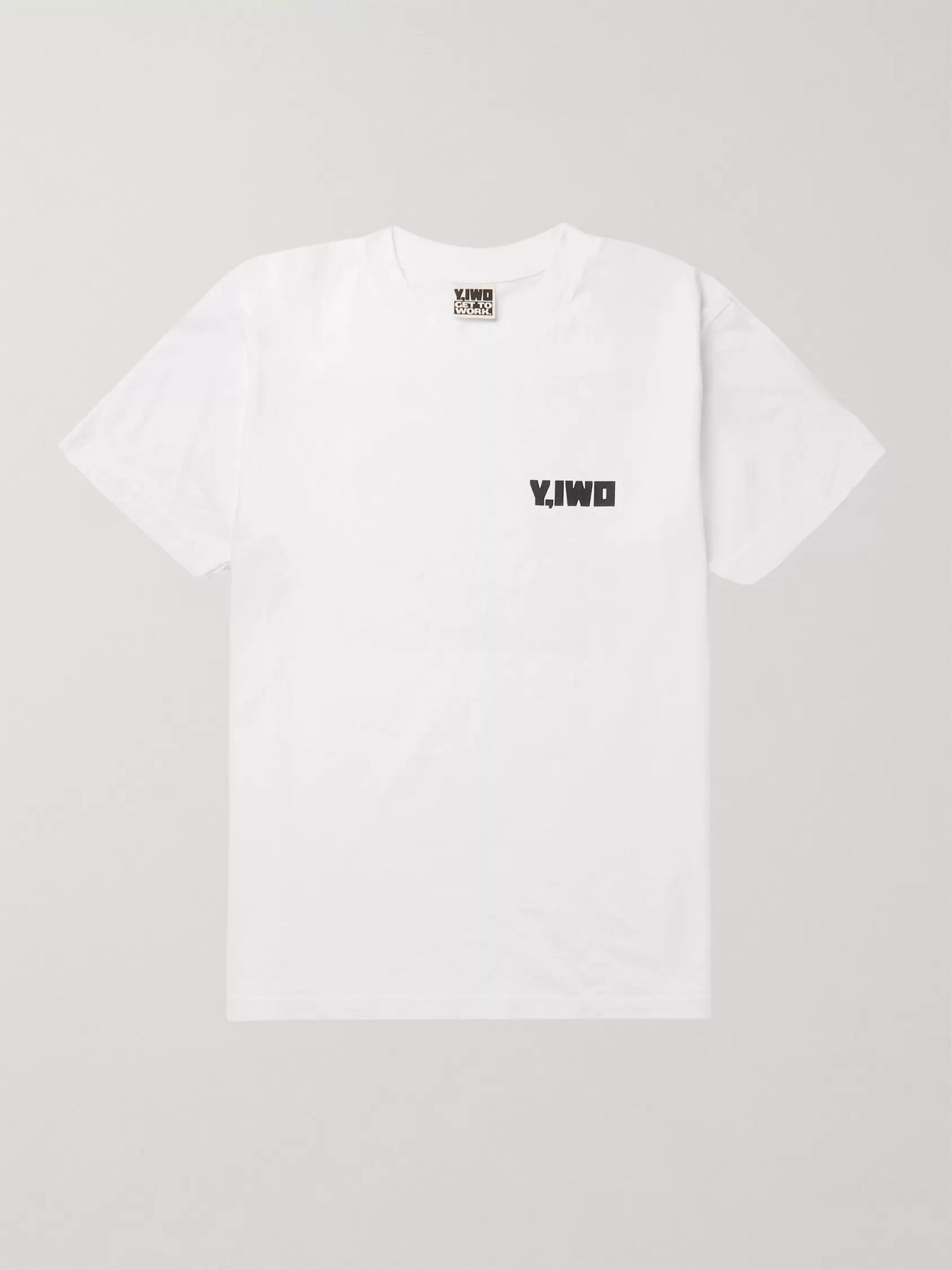 Y,IWO Printed Cotton-Jersey T-Shirt