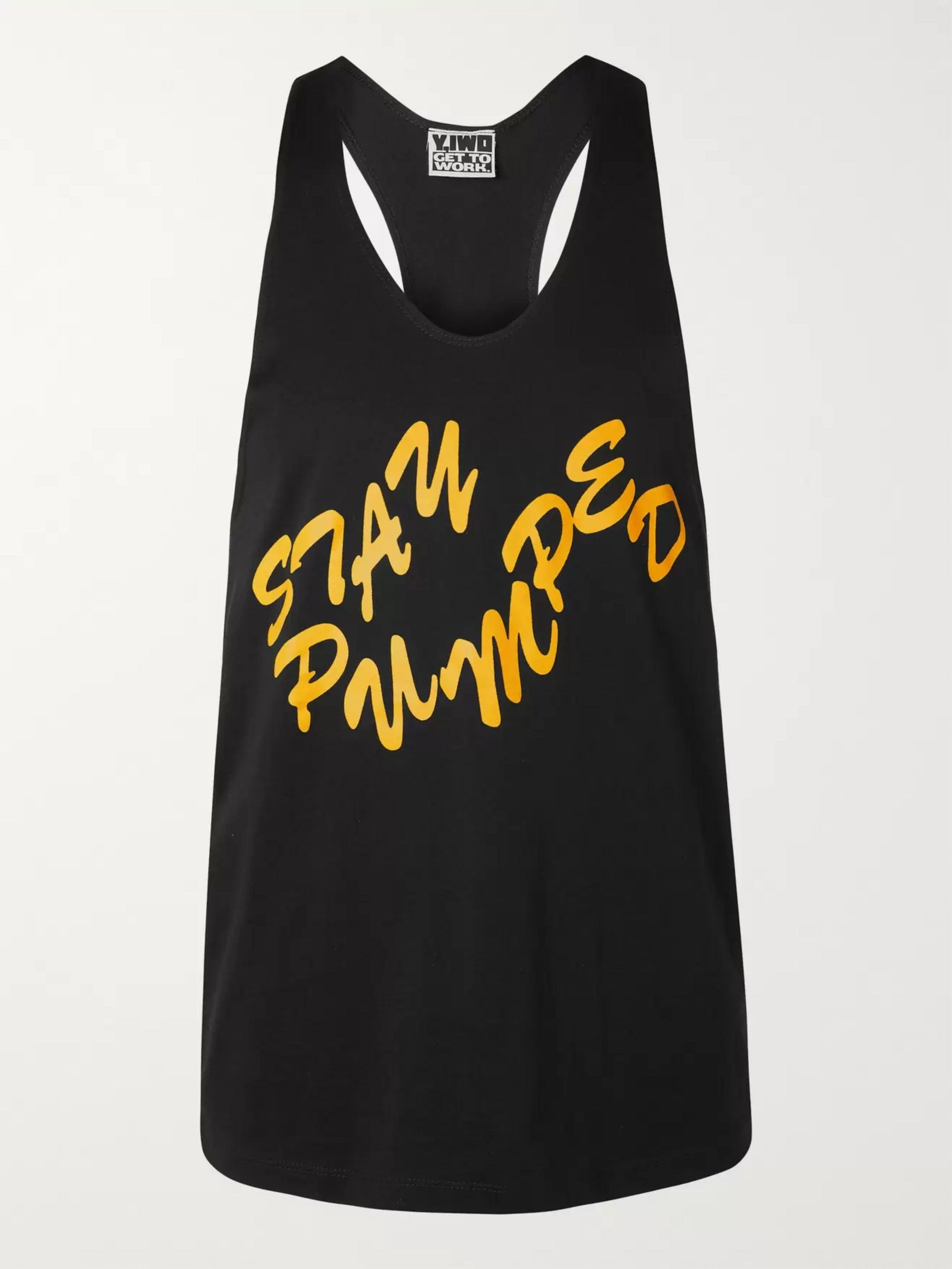 Y,IWO Printed Cotton-Jersey Tank Top