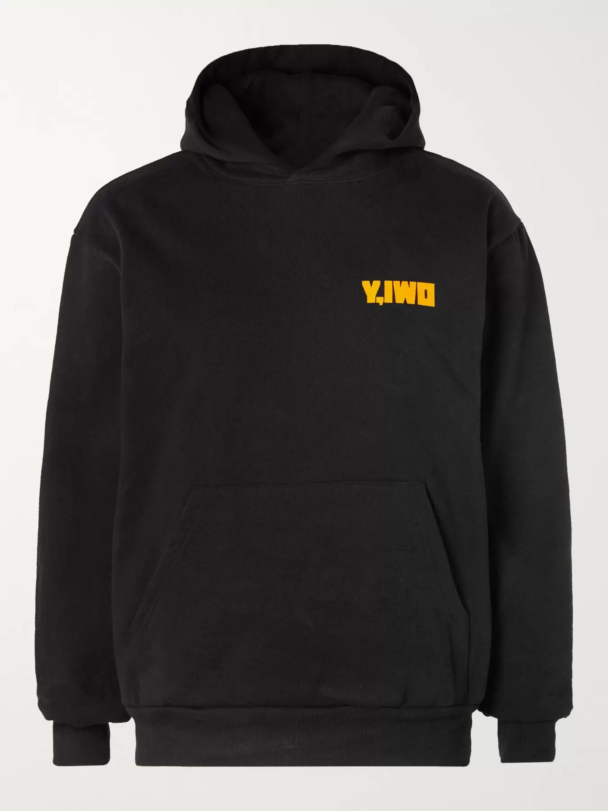Y,IWO Printed Fleece-Back Cotton-Jersey Hoodie