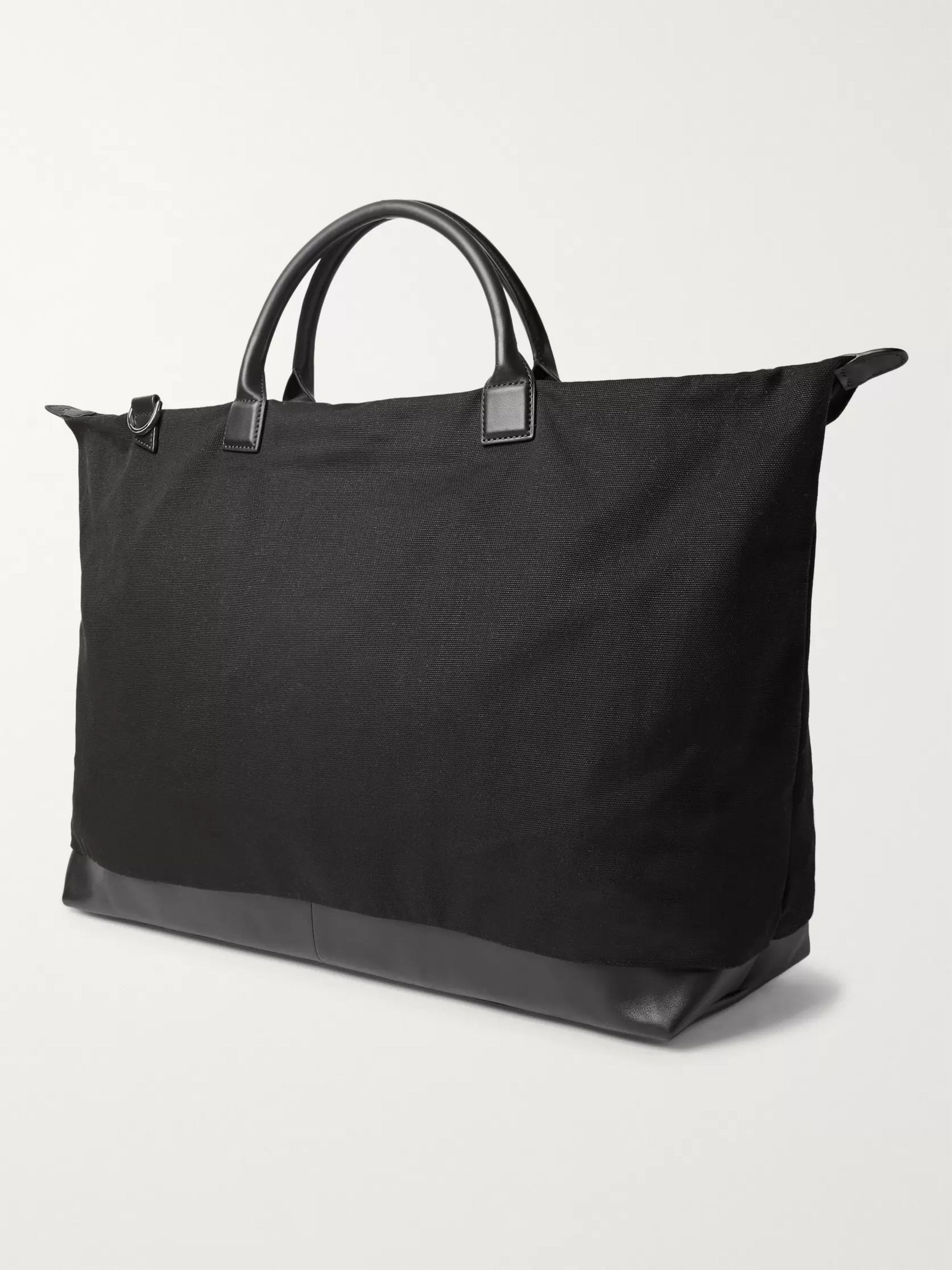 WANT LES ESSENTIELS Hartsfield Leather-Trimmed Organic Cotton-Canvas Holdall