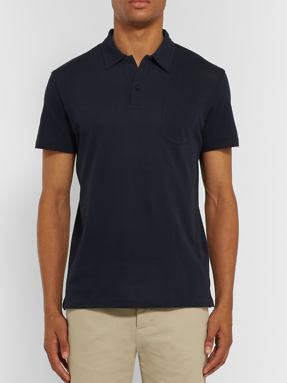 Sunspel Riviera Slim-Fit Cotton-Mesh Polo Shirt