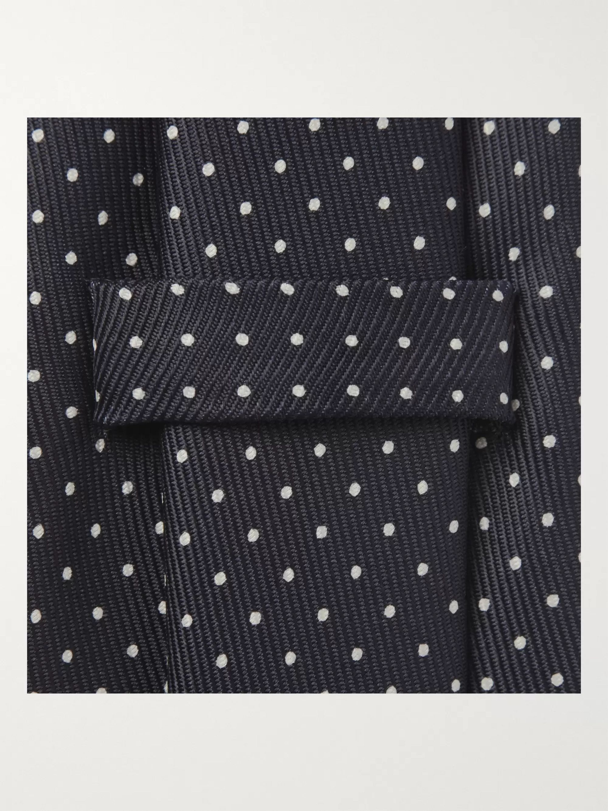 Turnbull & Asser 8cm Polka-Dot Silk Tie