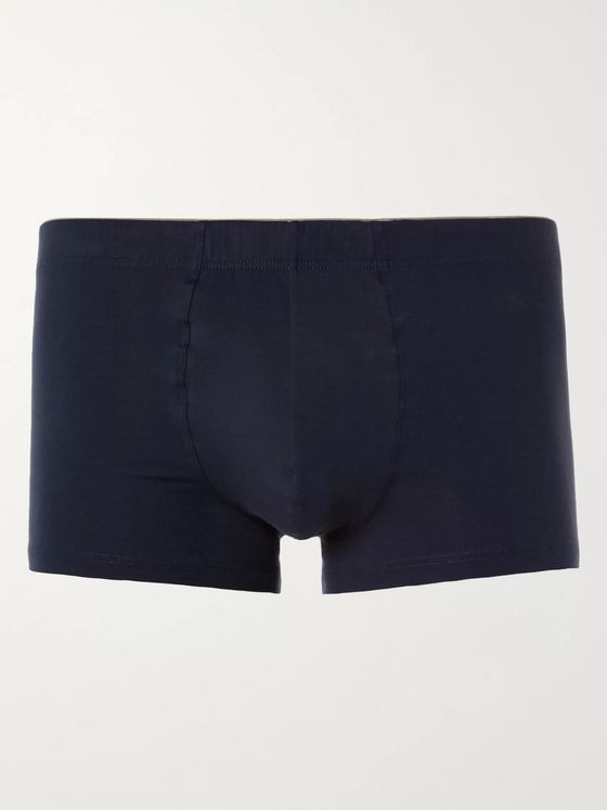 Hanro Superior Cotton-Blend Boxer Briefs