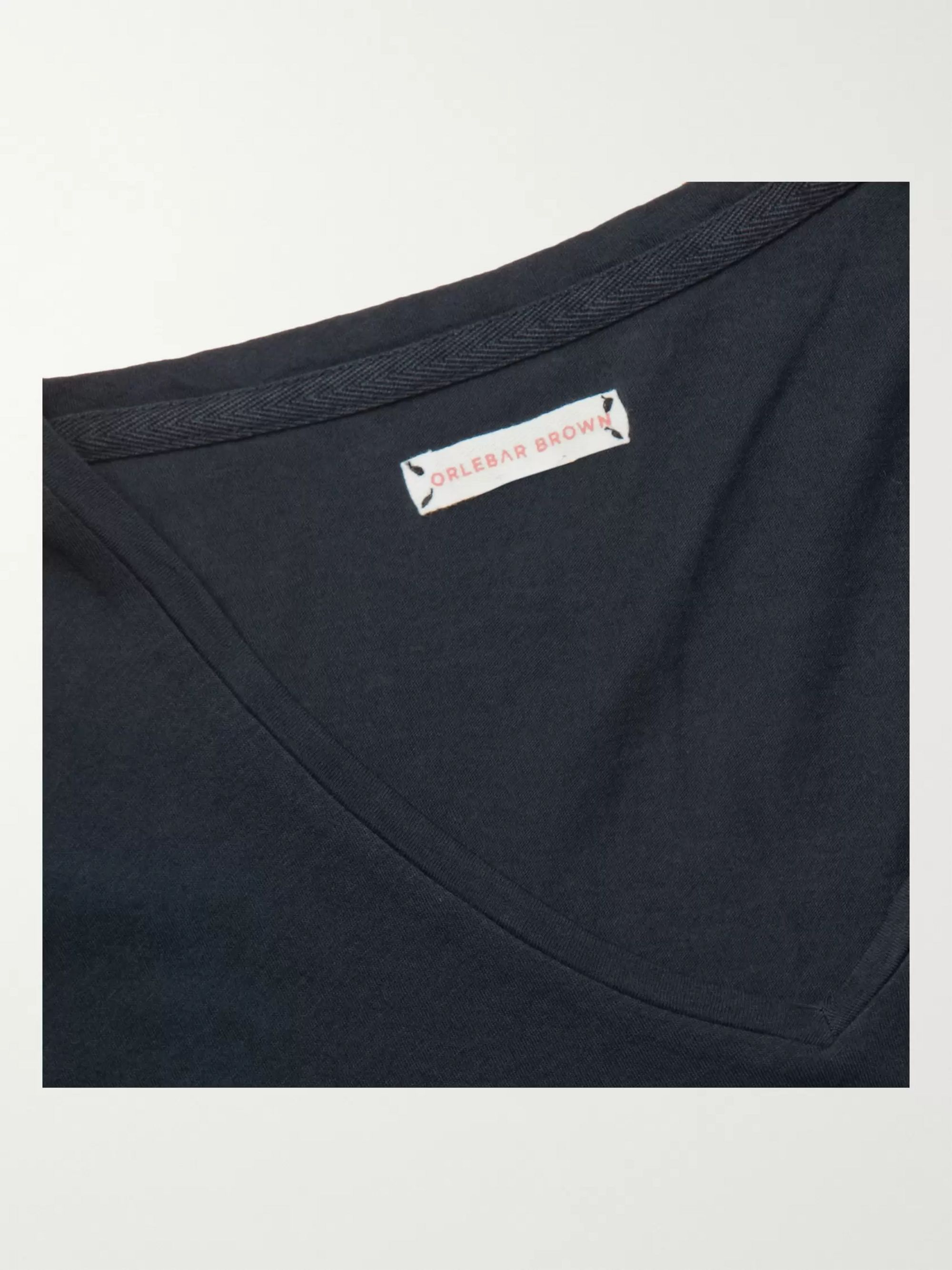 Navy Ob-v Slim-fit Cotton-jersey T-shirt | Orlebar Brown