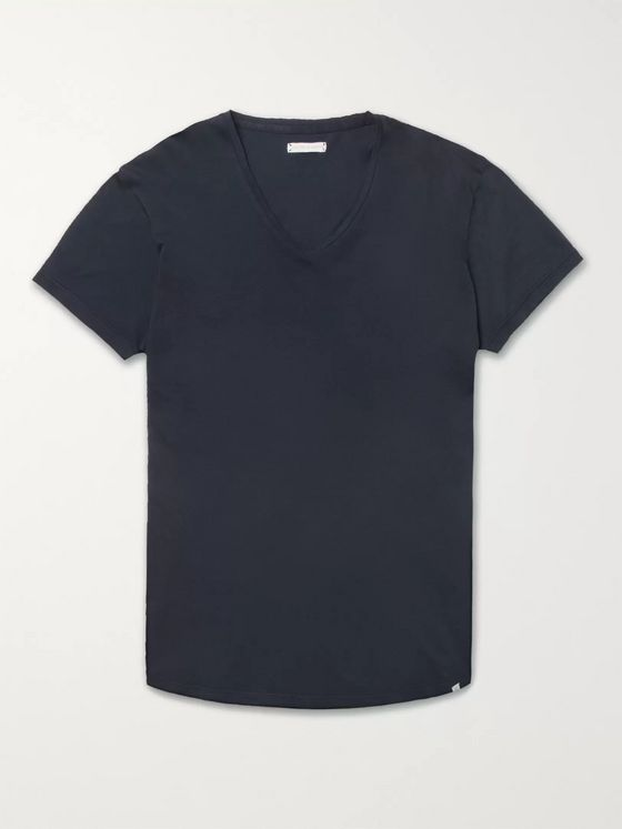OB V Slim Fit Cotton Jersey T Shirt
