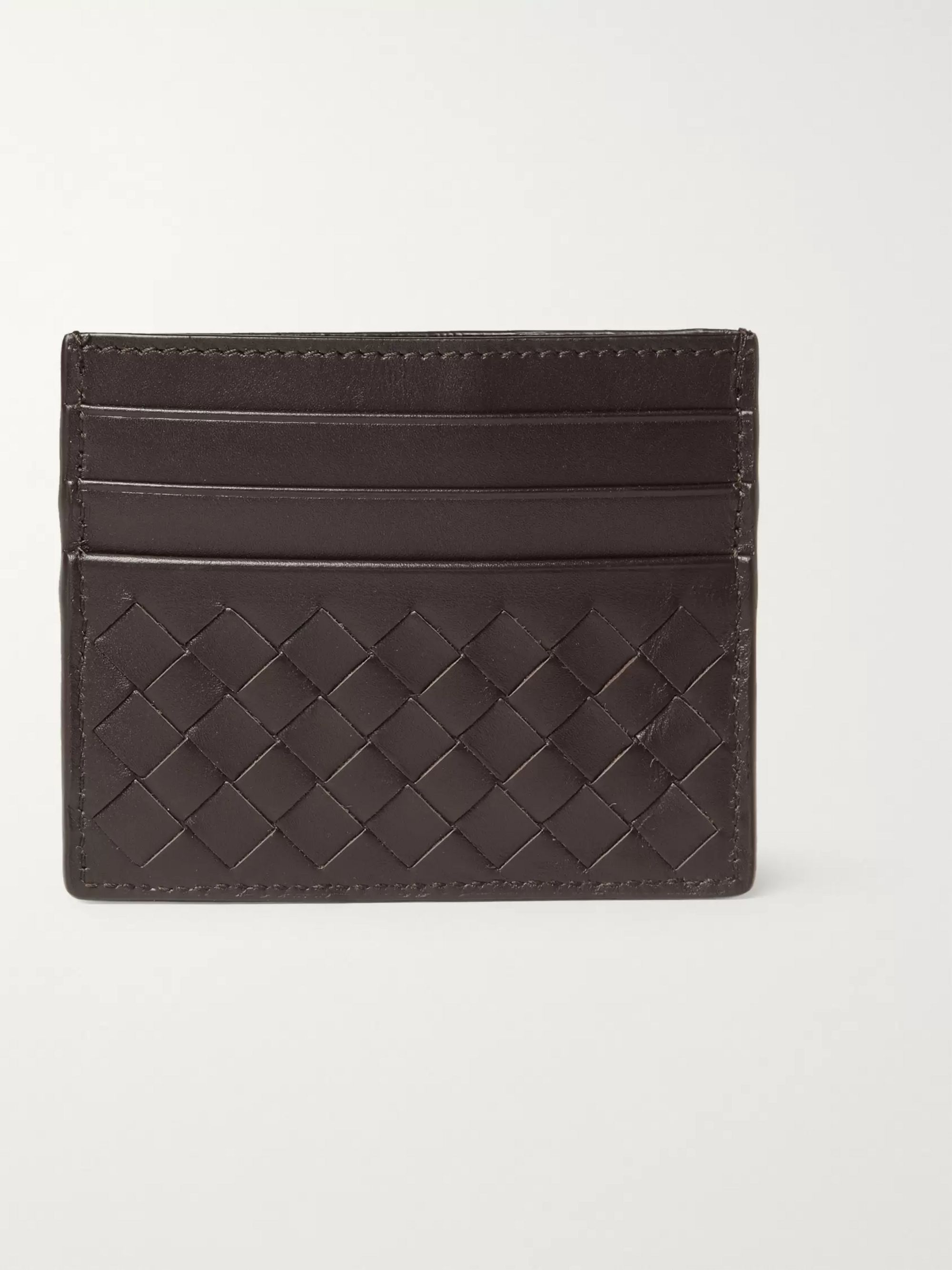 Bottega Veneta Intrecciato Woven Leather Cardholder