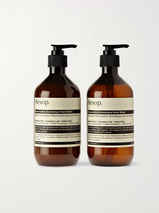 Aesop Resurrection Duet Hand Wash and Balm, 2 x 500ml