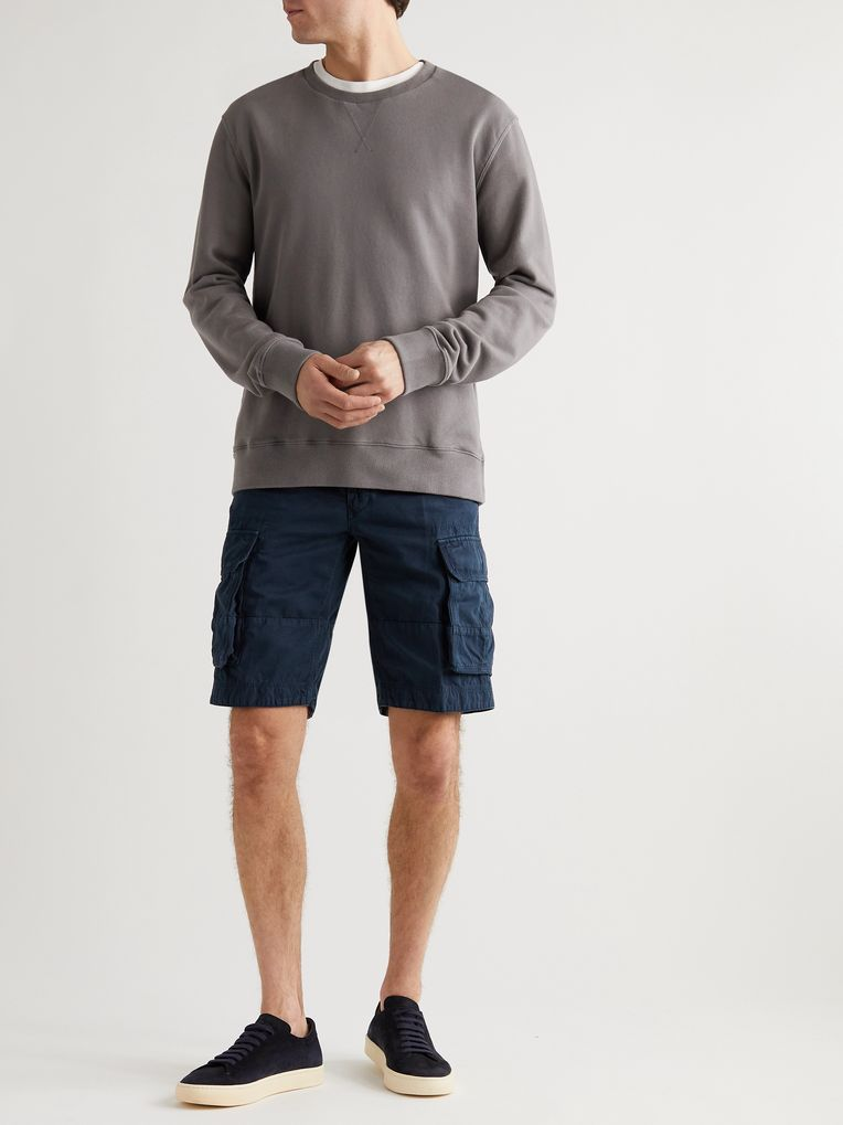 Incotex Cotton and Linen-Blend Cargo Shorts