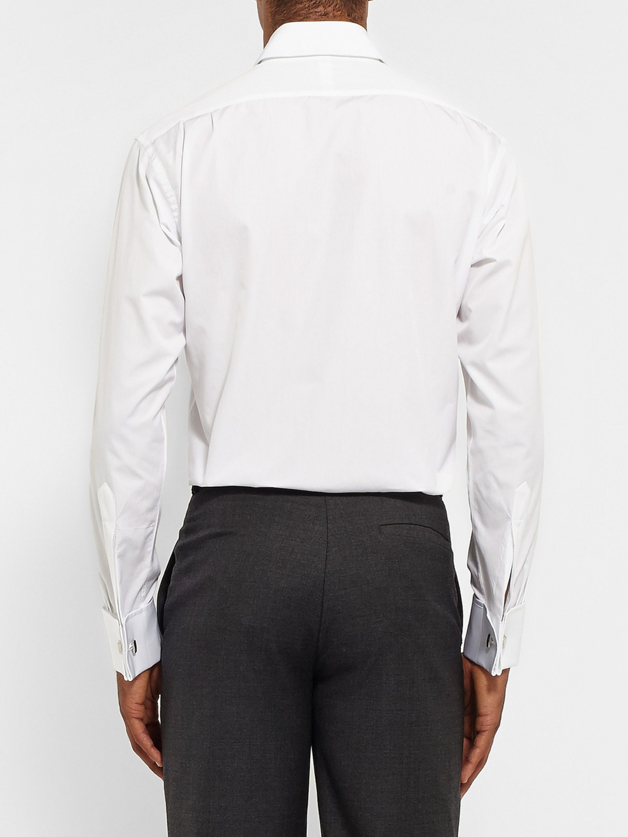 Emma Willis White Double-Cuff Cotton Shirt