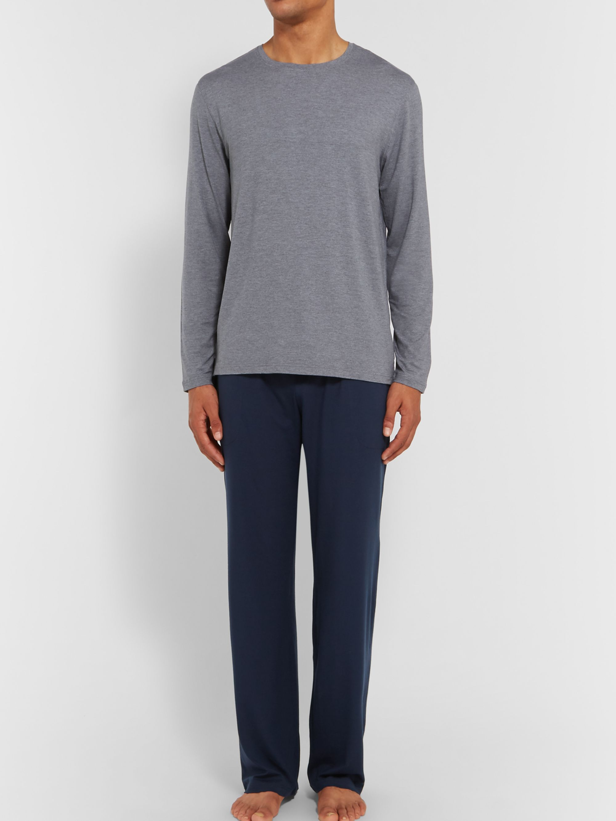 DEREK ROSE Basel Stretch Micro Modal Jersey Lounge Trousers