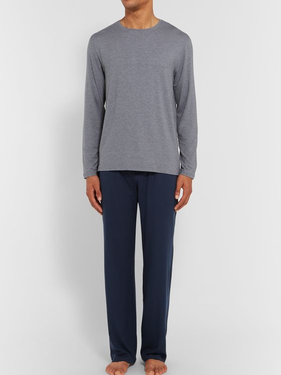 Derek Rose Basel Stretch Micro Modal Jersey Drawstring Trousers