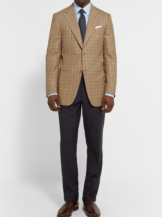 Dunhill Belgravia Glen Plaid Wool Blazer
