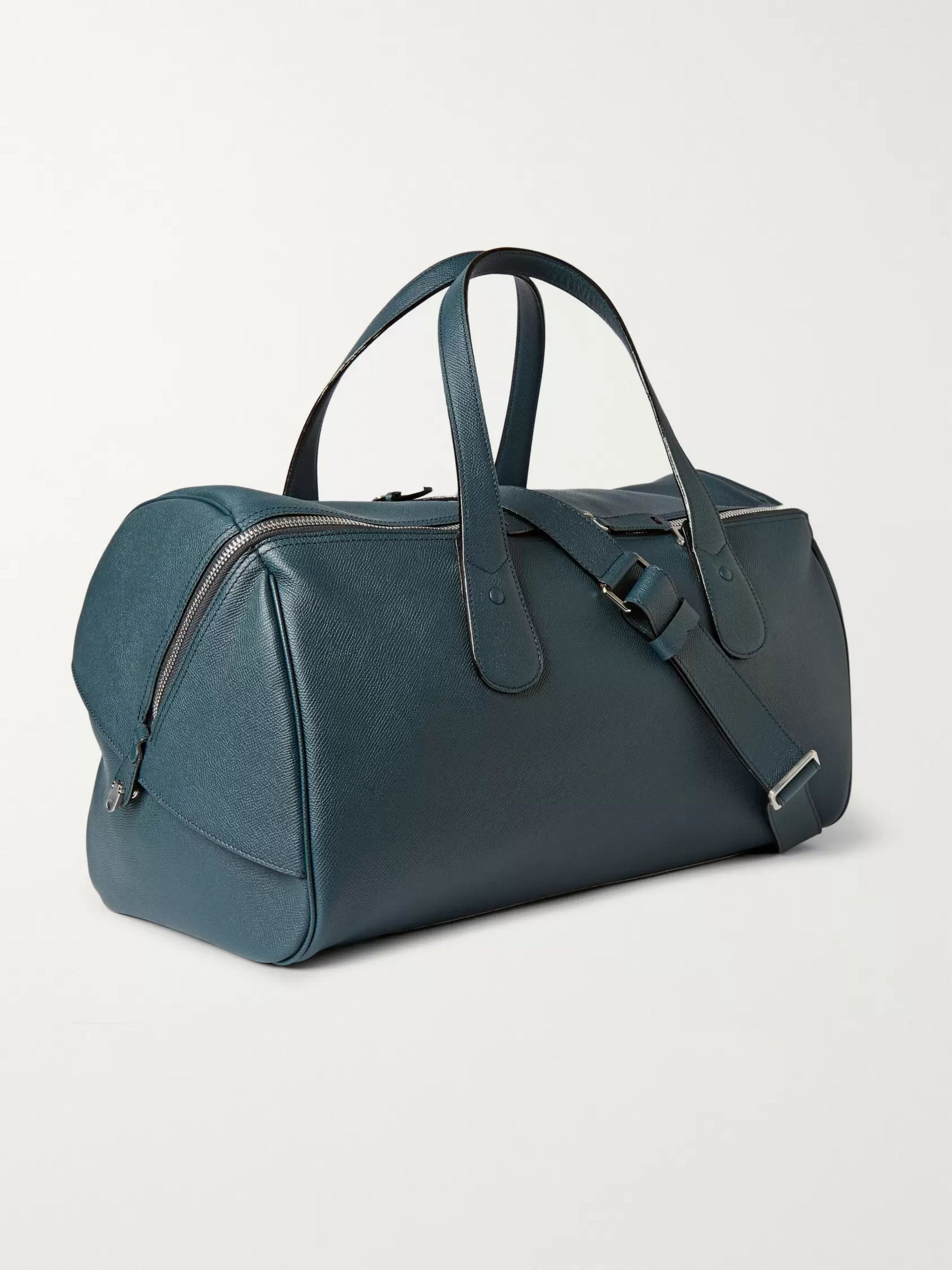 Valextra Cabina Pebble-Grain Leather Holdall
