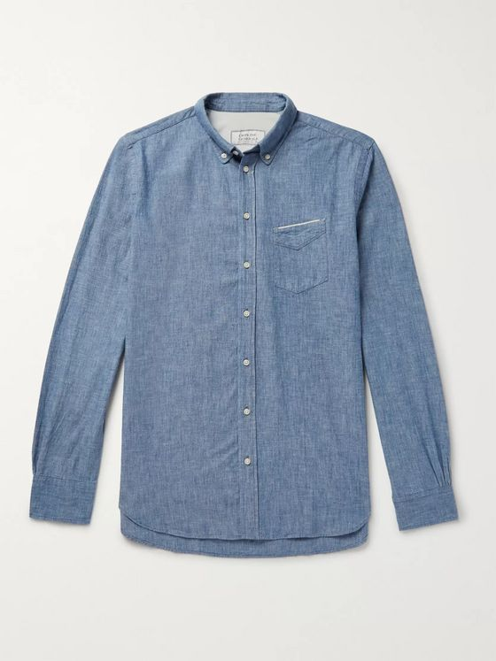 OFFICINE GÉNÉRALE Cotton-Chambray Shirt